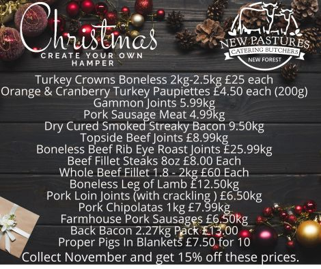 Create your own christmas hamper
