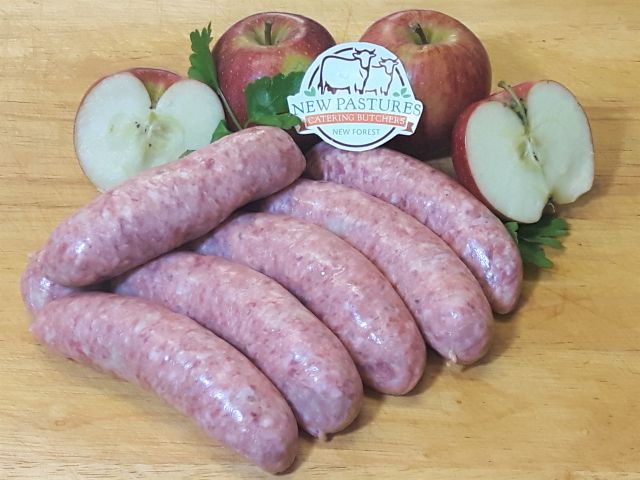 Award winning sausages, made fresh daily by our butchers in the New Forest